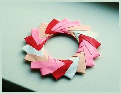 Модульное оригами кольцо за схемой  Mette Pederson