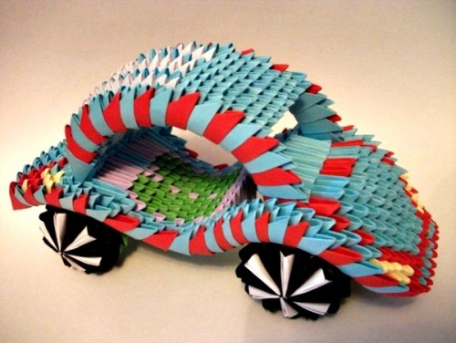 Модульное оригами Машинка