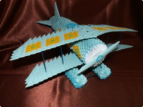 Модульное оригами Самолет