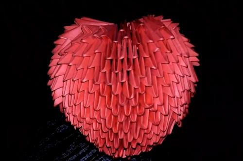 Модульное оригами Сердце объемное схема сборки
