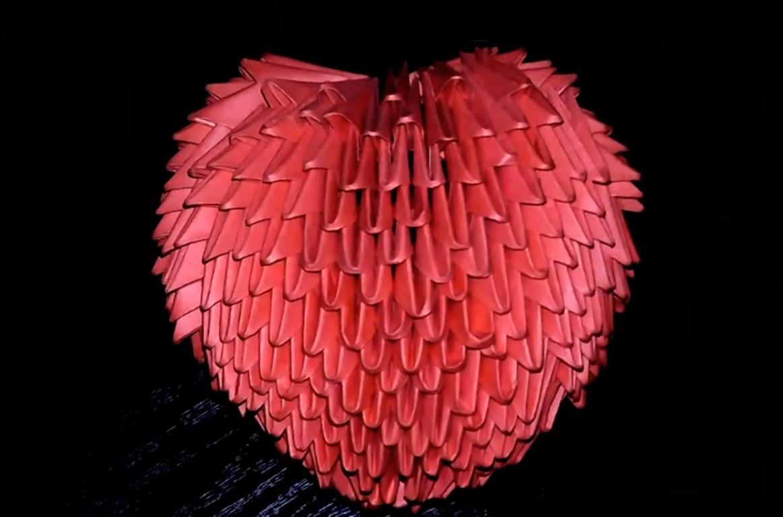 Модульного оригами схема сердца фото 203