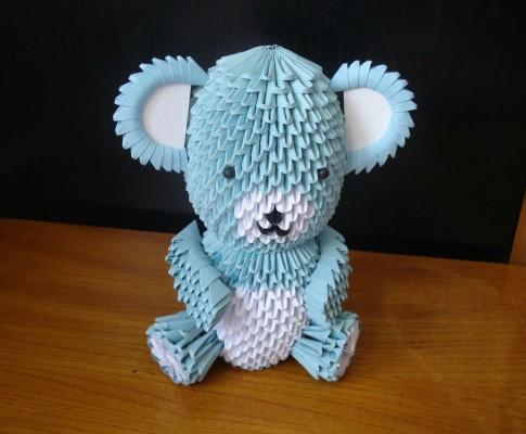 Модульное оригами мишка Тедди мастер-класс