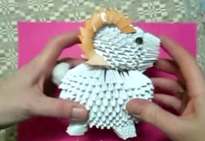 Модульное оригами овен