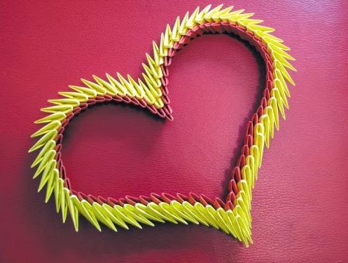 Модульное оригами сердце мастер класс