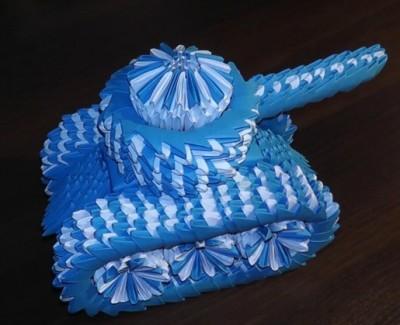 Модульное оригами танк пошаговая сборка