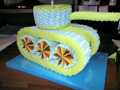 Модульное оригами танк схема сборки