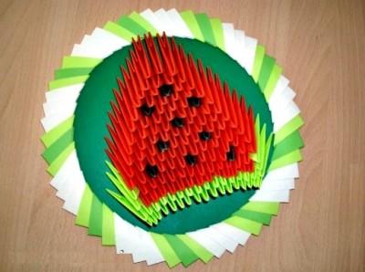 Оригами арбуз из модулей