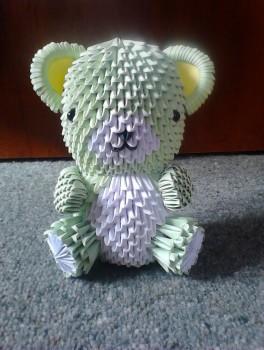 Оригами мишка Тедди видео сборка