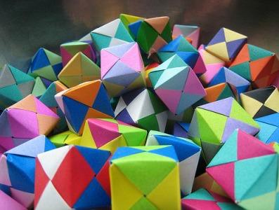 Оригами модуль Сонобе