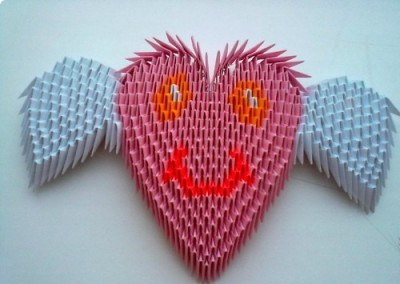 Оригами сердце видео