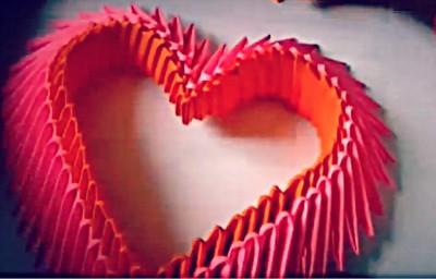 Сердце модульное оригами схема