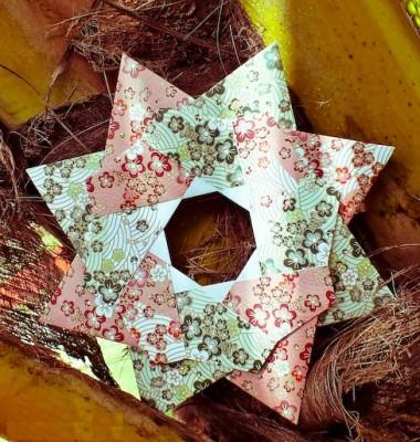Звезда Робина из модулей оригами за схемой  Maria Sinayskaya
