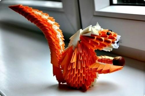 Модульное оригами Белочка