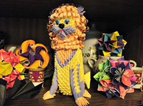 Модульное оригами Лев - король животных
