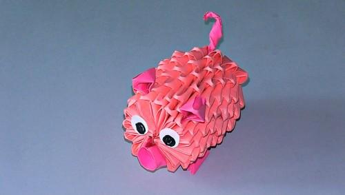 Модульное оригами Свинка