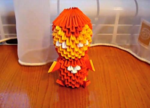 Модульное оригами Железный человек (Iron Man)