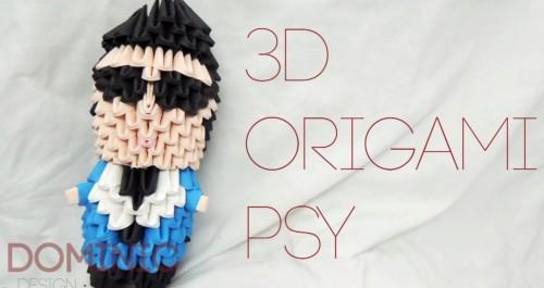 Модульное оригами человек - PSY Gangnam style