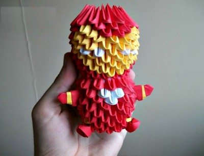 Модульное оригами из бумаги Железный человек