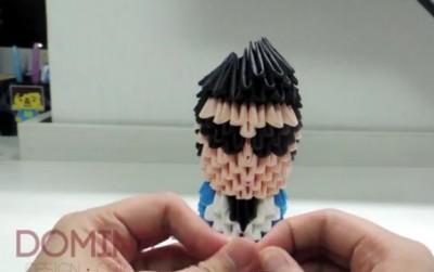 Модульное оригами как сделать человека PSY Gangnam style