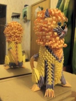 Модульное оригами лев схема сборки
