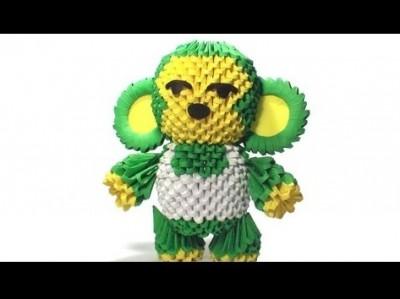 Модульное оригами обезьяна схема сборки