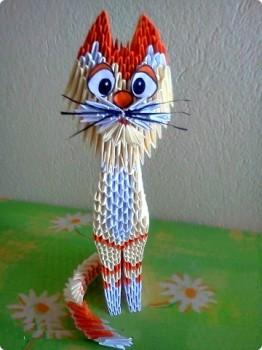 Модульное оригами схемы сборки Кота