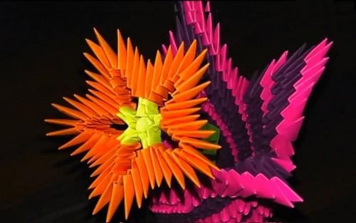 Поделки на восьмое марта - модульный Цветок схема сборки.