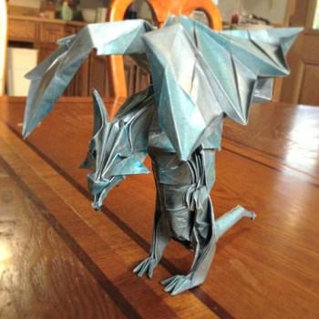 Оригами Дракон из бумаги схема сборки