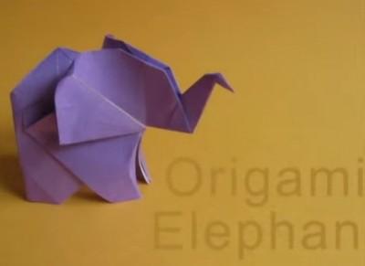 Elephant Оригами Слон видео урок по сборке