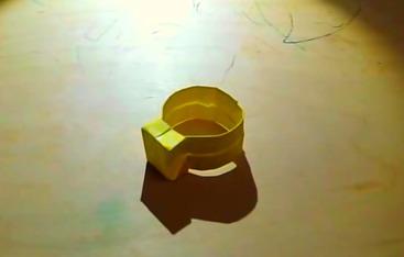 Кольцо оригами своими руками