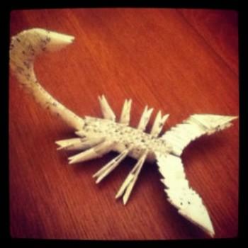 Модульное оригами схема скорпиона