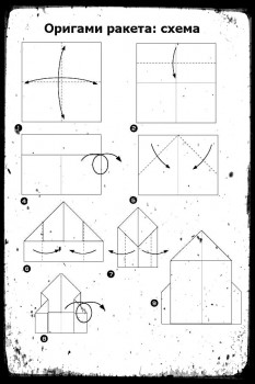 ОригамиРакета схемасборки