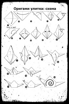 ОригамиУлитка схемасборки