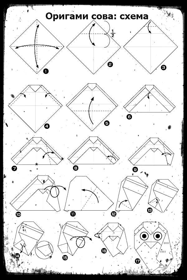 картинки оригами схема сборки симптомы генитального