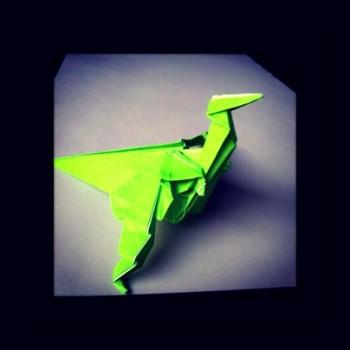 Оригами из бумаги динозавры