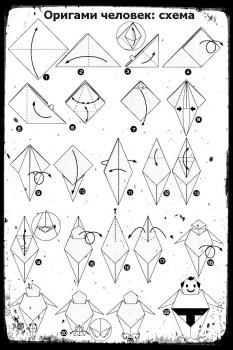 Оригами как сделать Человека схема сборки