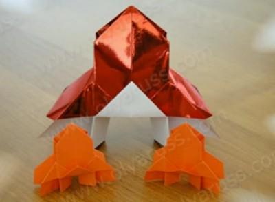 Оригами космическая Ракета видео