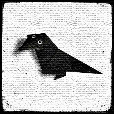 Оригами ворона схема