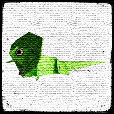 Оригами ящерица схема