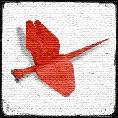 Стрекоза из модулей оригами