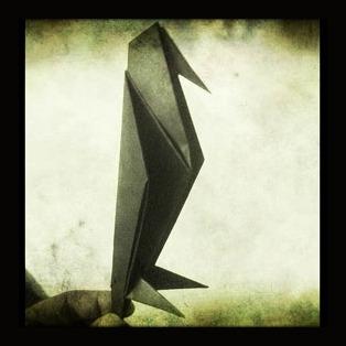 Видео Ворона из бумаги оригами
