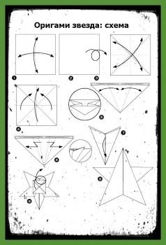 Как сделать звезду оригами схема сборки