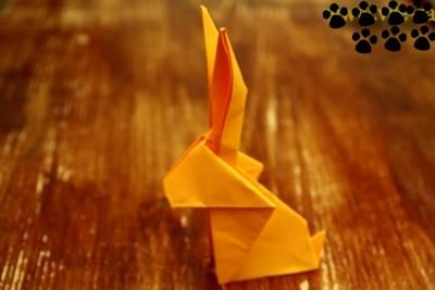 Оригами Кролик из бумаги видео урок