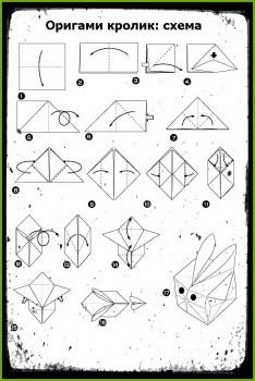 ОригамиКролик схема