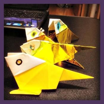 Оригами Попугайвидео