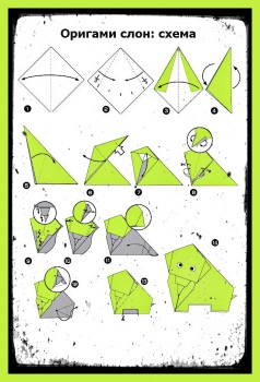 ОригамиСлон схема