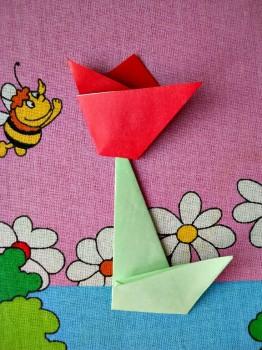 Оригами для детей тюльпан