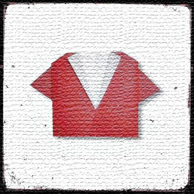Оригами из бумаги Рубашка