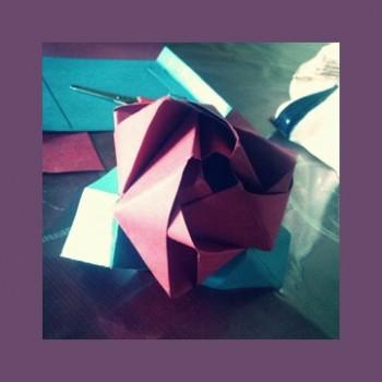 Оригами из бумаги Цветочек