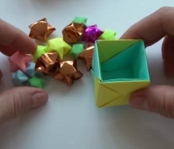 Оригами из бумаги куб